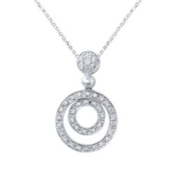 0.39 CTW Diamond Necklace 14K White Gold - REF-46R2K