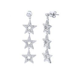 1.1 CTW Diamond Earrings 14K White Gold - REF-111F2N