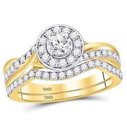 0.95 CTW Diamond Ring 14KT Yellow Gold - REF-163H5N