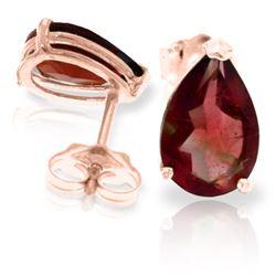 Genuine 3.15 ctw Garnet Earrings Jewelry 14KT Rose Gold - REF-21H2X
