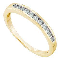 0.24 CTW Diamond Single Row Fashion Ring 14KT Yellow Gold - REF-26X9Y