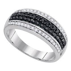 0.50 CTW Black Color Diamond Ring 10KT White Gold - REF-30Y2X