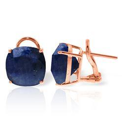 Genuine 9.66 ctw Sapphire Earrings Jewelry 14KT Rose Gold - REF-86R4P