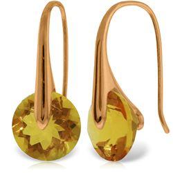 Genuine 11.50 ctw Citrine Earrings Jewelry 14KT Rose Gold - REF-74P6H