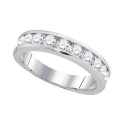 1.03 CTW Diamond Wedding Ring 14KT White Gold - REF-119K9W