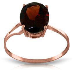 Genuine 2.2 ctw Garnet Ring Jewelry 14KT Rose Gold - REF-34N3R