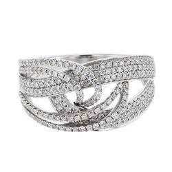 0.78 CTW Diamond Ring 14K White Gold - REF-108F9N
