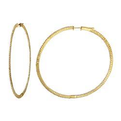 1.7 CTW Diamond Earrings 14K Yellow Gold - REF-140N2Y
