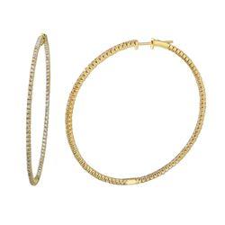 1.77 CTW Diamond Earrings 14K Yellow Gold - REF-130R4K