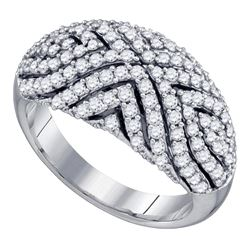 1.09 CTW Diamond Fashion Ring 10KT White Gold - REF-86Y8X
