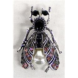 Bling Bling Rhinestone Insect Pin
