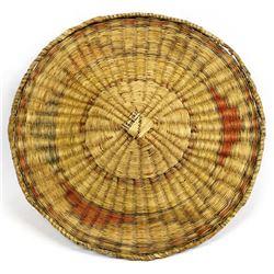 Vintage Native American Hopi Flat Basket