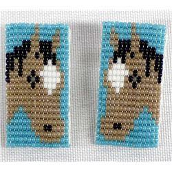 Native American Navajo Beaded Horse Earrings