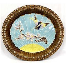 Antique Rare Etruscan Majolica Plate