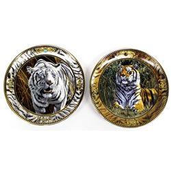 2 Tiger Collector Plates