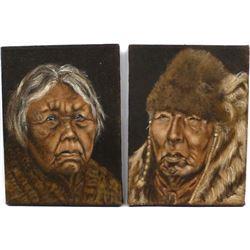 2 Original Acrylic Paintings by P.J. Friel