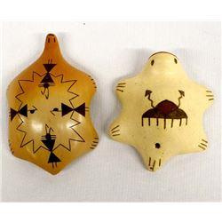 2 Native American Hopi Pottery Turtles