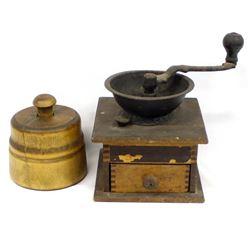 Antique Parker Coffee Mill & Butter Press