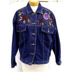 Carole Little Denim Jacket, Size L