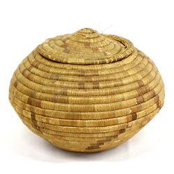 Vintage Native American Eskimo Lidded Basket