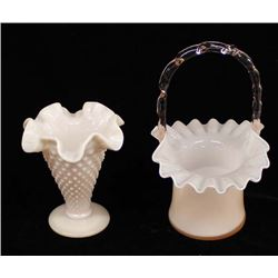 2 Pieces of Pink Fenton Glass