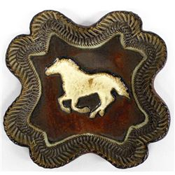 Horse Pottery Plate