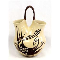 Hopi Pottery Wedding Vase, Donna Navasie-Robertson