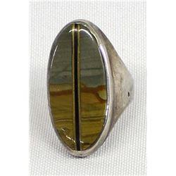 Native American Navajo Sterling & Jasper Ring