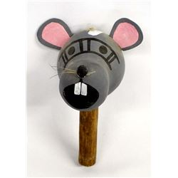 Native American Hopi Gourd Mouse Rattle