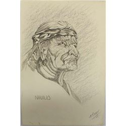 Original Navajo Pencil Drawing