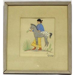 Framed under Glass, Silk Screen Reproduction Print