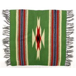 Chimayo 100% Wool Fringed Textile