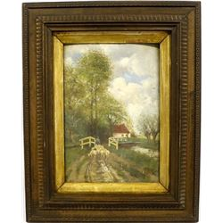 Landscape Painting on Wood Board