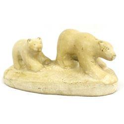 Canadian Inuit Carved Stone Polar Bears
