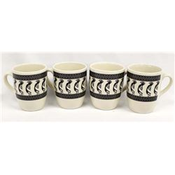 Set of 4 Anasazi Traders Mimbres Designed Cups