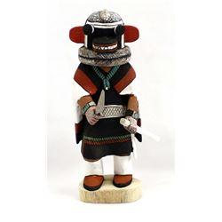 Hopi Carved Wood Awa-Ovi Soyoko Kachina, D. Adams