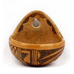 Vintage Native American Hopi Wall Vase