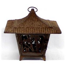 Rustic Cast Iron Japanese Lantern Candleholder