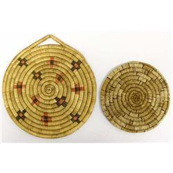 2 Hopi Basket Plaques