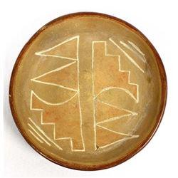 Vintage San Juan Pottery Shallow Bowl