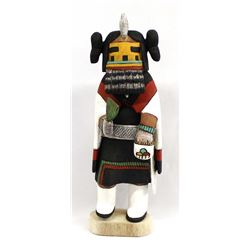 Hopi Carved Hemis Mana Kachina by D. Adams