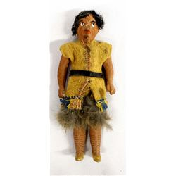 Antique Native American Style Red Clay Doll