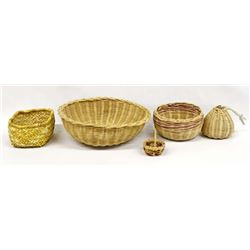 Collection of 5 Cherokee Baskets