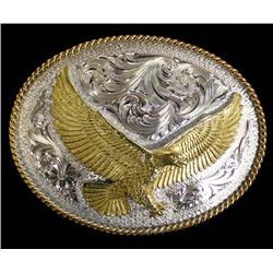 Montana Silversmiths Silver Plate Eagle Buckle