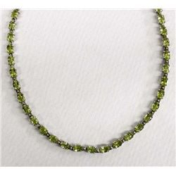 Sterling Silver & Peridot Necklace
