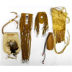 6 Native American Leather Bags