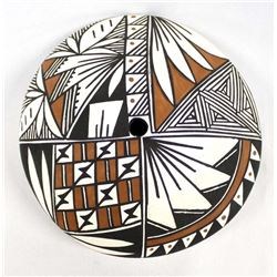 Acoma Polychrome Pillow Pottery Seed Jar by Garcia