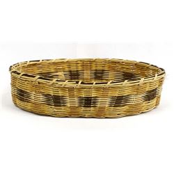 1980 Cherokee Oval Basketry Tray by Eva Q. Wolfe