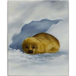 Original Acrylic Painting of a Seal