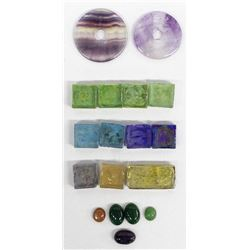 Glass Minitiles, Cabachons, and Amethyst Rounds